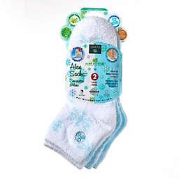 Earth Therapeutics® Aloe Moisture™ 2-Pack Socks Set in Blue/Snowflake