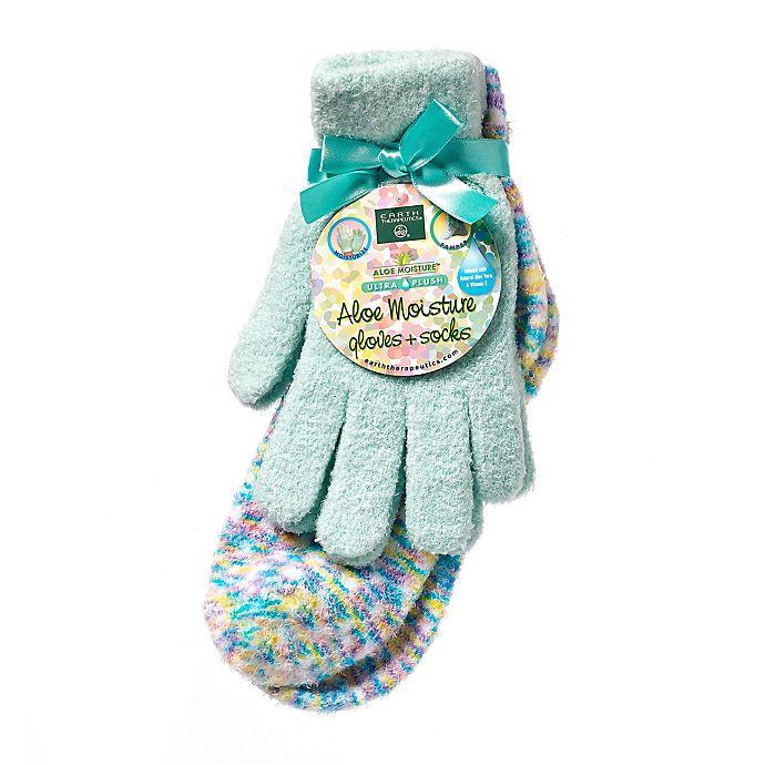 Alternate image 1 for Earth Therapeutics® Aloe Moisture™ Glove & Socks Set in Green Confetti