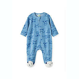 Little Me® Dog Velour Footie in Blue