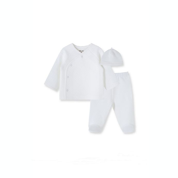 Alternate image 1 for Little Me® 3-Piece Quilted Pant Set in White