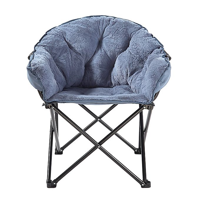 Alternate image 1 for Simply Essential™ Foldable Faux Fur Club Chair
