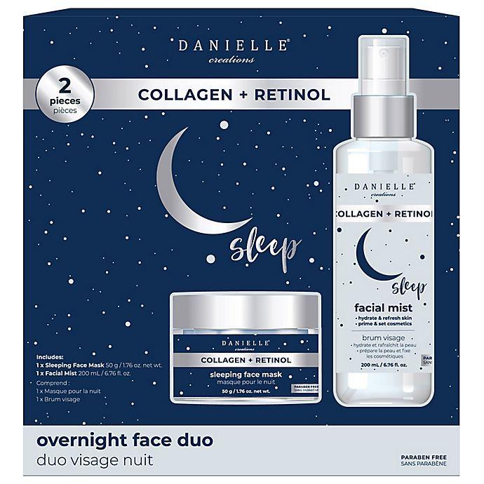 Alternate image 1 for Danielle® Creations Collagen + Retinol Overnight Face Duo Set