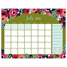 TF Publishing Floral July 2021 to June 2022 Large Desk Pad Calendar