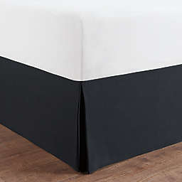 Simply Essential™ Microfiber Queen Tailored Bed Skirt in Black