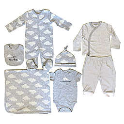 Sterling Baby Size 6M 7-Piece Cloud Starter Layette Set in Grey