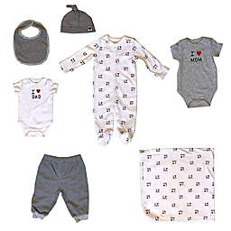 Sterling Baby Newborn 7-Piece Heart Starter Layette Set in White