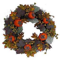Bee & Willow™ 22-Inch Persimmon and Berry Vine Wreath in Orange
