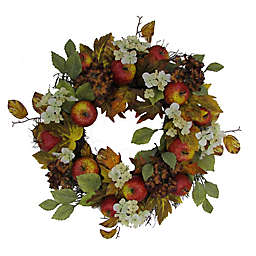 Bee & Willow™ 22-Inch Hydrangea and Apples Vine Wreath