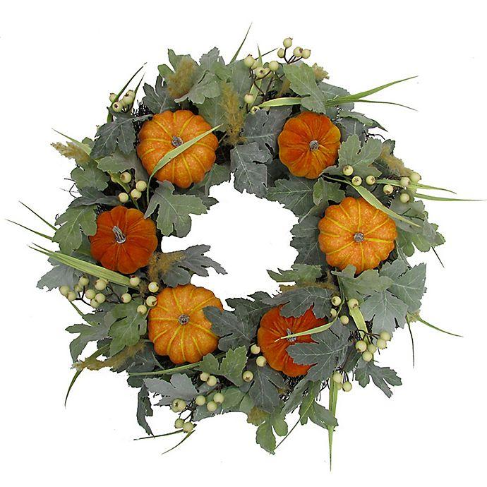 Alternate image 1 for 24-Inch Pumpkin/Berry Spiral Vine Wreath