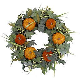 24-Inch Pumpkin/Berry Spiral Vine Wreath