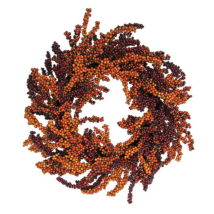Alternate image 1 for 22-Inch Fall Berry Wreath