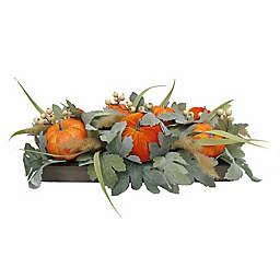 21-Inch Pumpkin Berry Centerpiece with Wooden Box