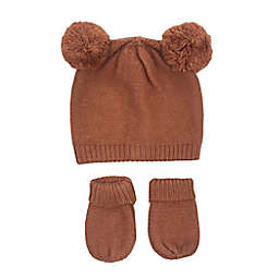 NYGB™ Size 0-12M Double Pom-Pom Hat and Mitten Set