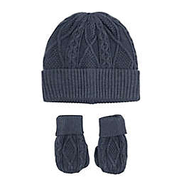 NYGB™ 2-Piece Knit Hat and Mitten Set in Grey