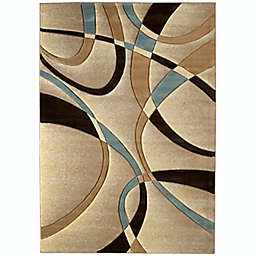 United Weavers Contours La Chic 1-Foot 10-Inch x 2-Foot 8-Inch Accent Rug in Beige