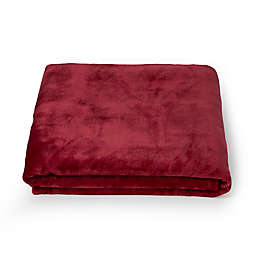 Simply Essential™ Plush Solid Throw Blanket in Red