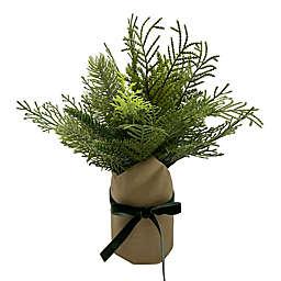 Bee & Willow™ 6.5-Inch Kraft Wrapped Artificial Arrangement in Green
