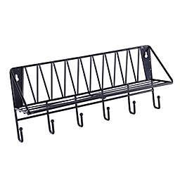 Wild Sage™ Wire Wall Shelf with Hooks
