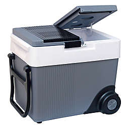 Koolatron 33-Liter Kargo Wheeler Cooler in Grey/White