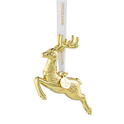 Waterford® 3.86-Inch Alloy Reindeer Christmas Ornament in Golden