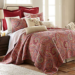 Levtex Home Avery 3-Piece Reversible King Quilt Set in Red