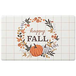 "18"" x 30"" ""Happy Fall"" Wreath Comfort Kitchen Mat"