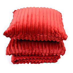 Simply Essential™ 3-Piece Corduroy Throw Blanket and Throw Pillow Bundle