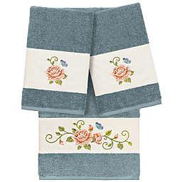Linum Home Textiles Rebecca 3-Piece Towel Set in Teal