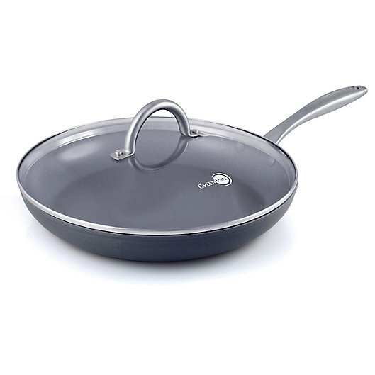 Alternate image 1 for GreenPan™ Lima Nonstick 12-Inch Ceramic Covered Fry Pan in Grey