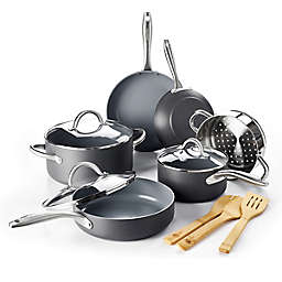 GreenPan™ Lima Ceramic Nonstick 12-Piece Cookware Set in Grey