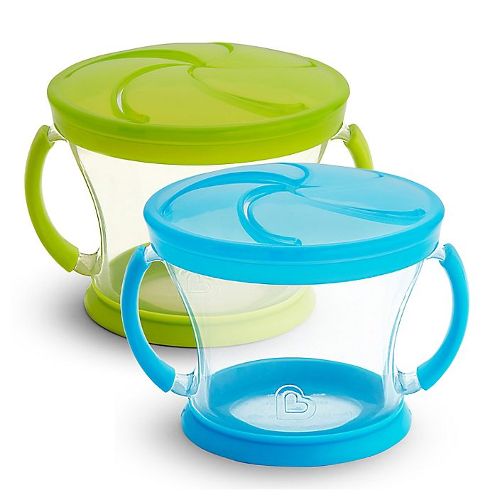 Alternate image 1 for Munchkin® Snack Catcher® 9 oz. Snack Containers (Set of 2)