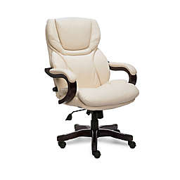 Serta® Big and Tall Bonded Leather Executive Chair in Ivory