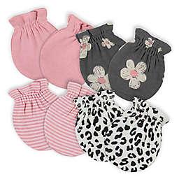 Gerber® 4-Pack Leopard No Scratch Mittens in Pink