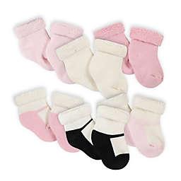 Gerber® 6-Pack Leopard Wiggle-Bootie Socks in Pink