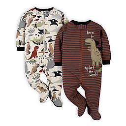 Gerber® Size 0-3M 2-Pack Dino Sleep 'n Plays in Red