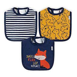 Gerber® 3-Pack Fox Bibs in Red
