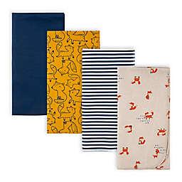 Gerber® 4-Pack Fox Receiving Blankets in Blue