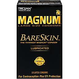 Trojan® Magnum BareSkin 10-Count Large Lubricated Premium Latex Condoms