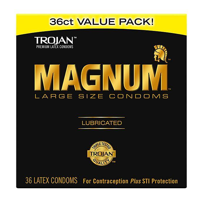 Alternate image 1 for Trojan® Magnum 36-Count Large Lubricated Premium Latex Condoms Value Pack