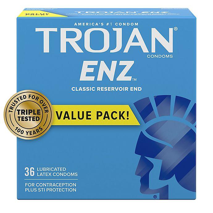 Alternate image 1 for Trojan® ENZ™ 36-Count Lubricated Premium Latex Condoms