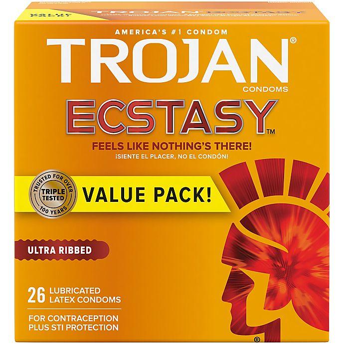 Alternate image 1 for Trojan® Stimulations Ecstasy® 26-Count UltraSmooth Lubricant Premium Latex Condoms