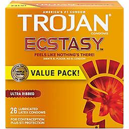 Trojan® Stimulations Ecstasy® 26-Count UltraSmooth Lubricant Premium Latex Condoms