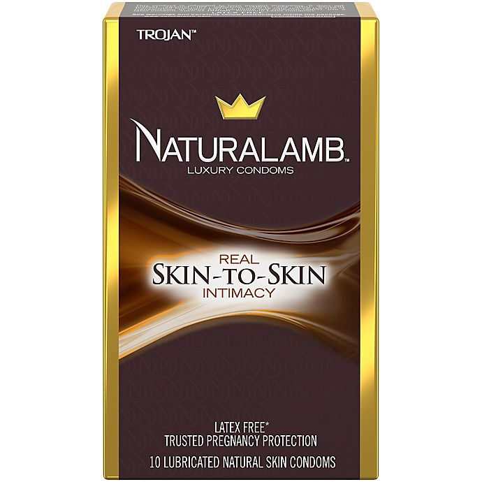 Alternate image 1 for Trojan™ Naturalamb™ 10-Count Lubricated Natural Skin Luxury Condoms