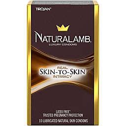Trojan™ Naturalamb™ 10-Count Lubricated Natural Skin Luxury Condoms