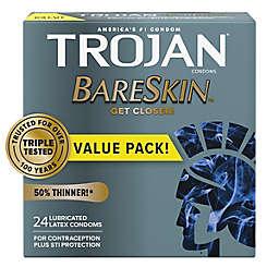 Trojan® BareSkin™ 24-Count Premium Lubricant Latex Condoms