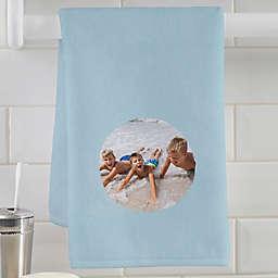 Watercolor Photo Personalization Hand Towel