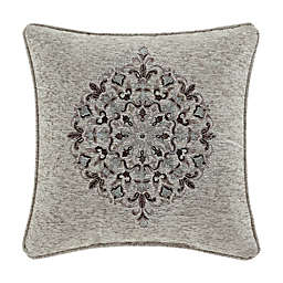 J. Queen New York™ Tiana Square Throw Pillow in Silver