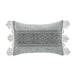 J. Queen New York™ Tiana Boudoir Throw Pillow in Silver