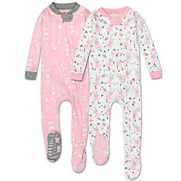 The Honest Company™ 2-Pack Organic Cotton TuTu Cute Footed Pajamas in Pink/Grey