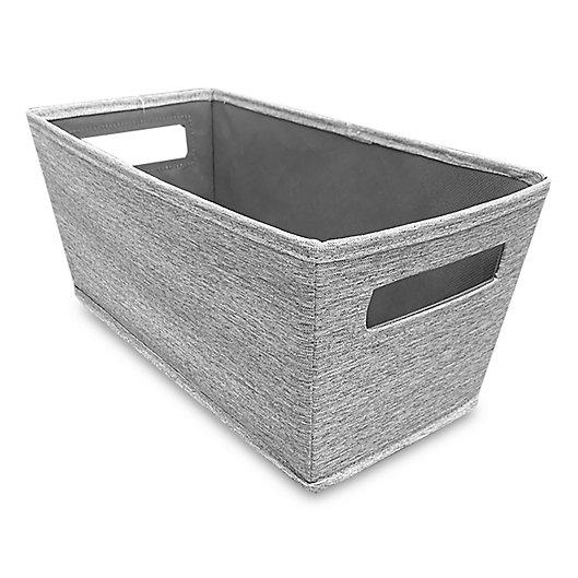 Alternate image 1 for Squared Away™ Tweed Flared Storage Bin in Grey